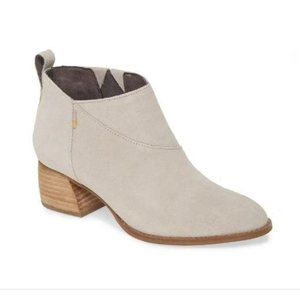 Toms Leilani Suede Pull On Bootie Gray Women's 9